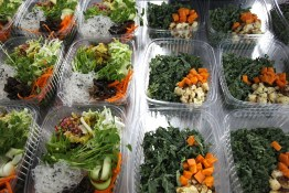 Salad prep at The Juice Truck Store Front