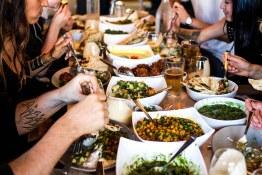 Acorn staff meal spread