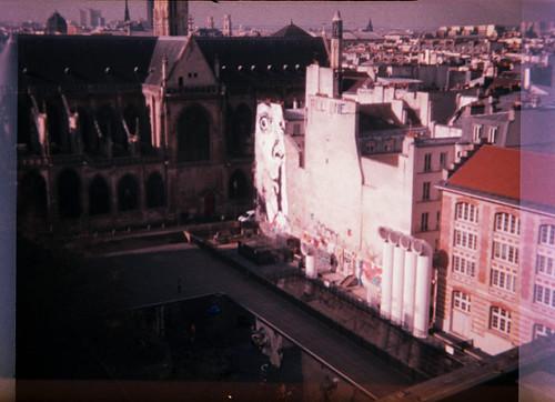 Fontaine Stravinsky vue du 5e étage du Centre Pompidou