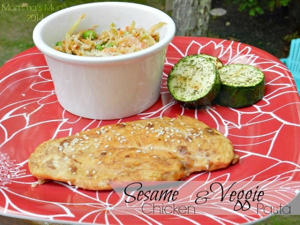 Sesame Chicken & Veggie Pasta (3)