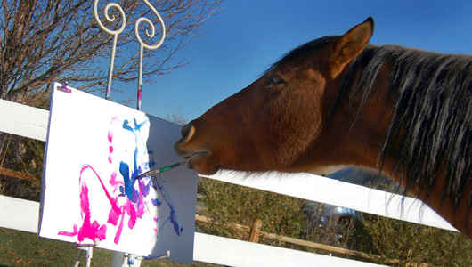 cholla the painting horse