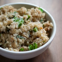 Salmon Snap Pea Risotto