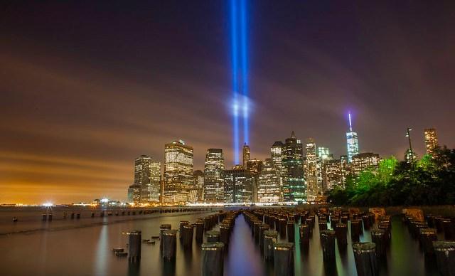 The September 11th Memorial Tribute In Light 2014 New York City