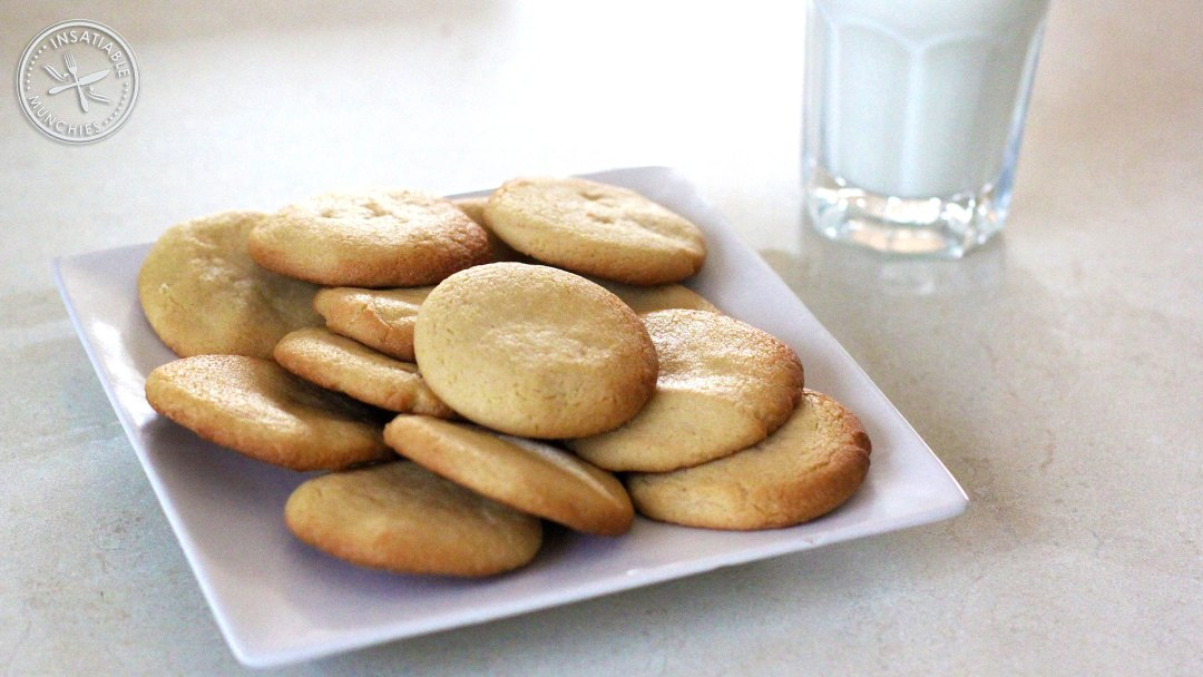 Plate of cookies, with milk