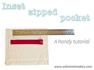 Inset Zipped Pocket Tutorial
