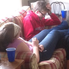 Siblings not actively trying to kill each other - wonder how long this will last....