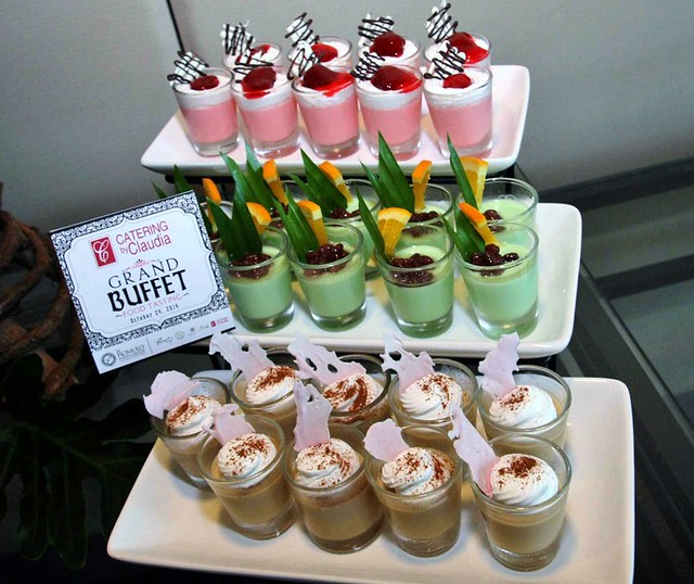 Assorted panacotta shots