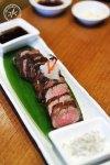 Wagyu Beef with herb salt and amayaki sauce