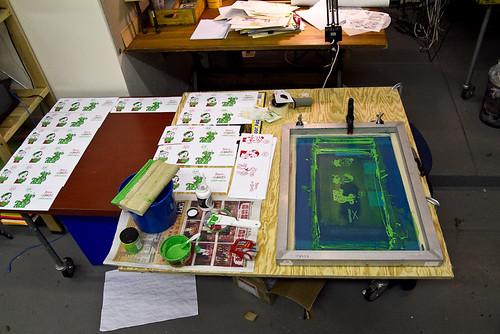 screenprinting in the studio