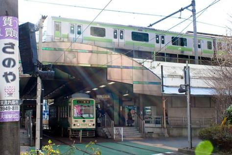 Yamanote Line and Toden-Arakawa Line at Otsuka Station