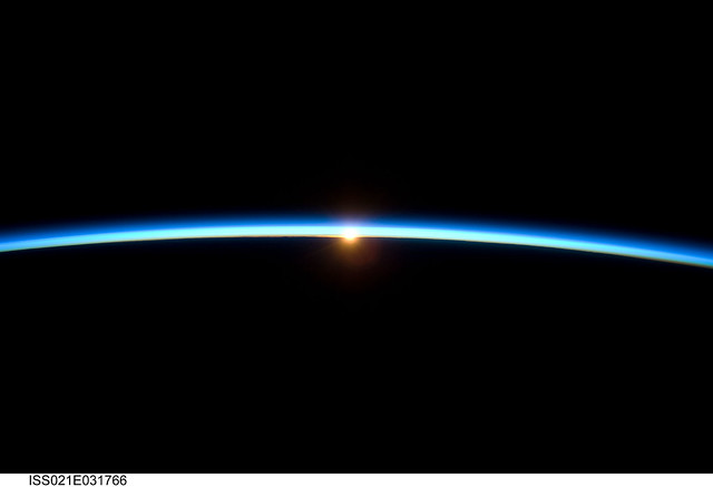 Sunset Over Earth (NASA, International Space Station Science, 11/23/09) By NASA's Marshall Space Flight Center