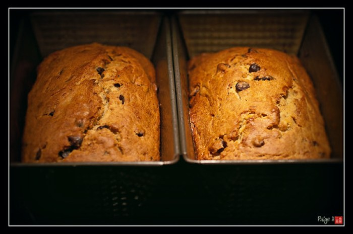 Day  154 - Banana & Sour Cream Bread (with chocolate chips)