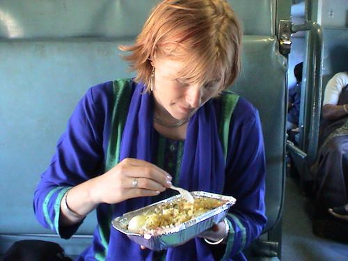 20040209_steph_eating_train_food2