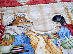 Free motion quilting detail