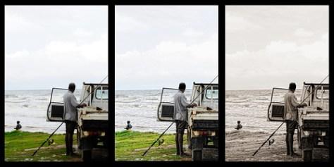 beach fisherman HDR