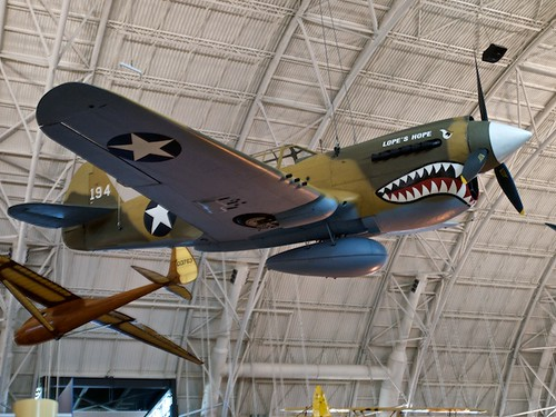 Curtiss P-40E Kittyhawk, below