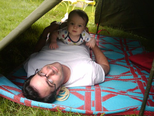 Backyard tent time in Brookfield