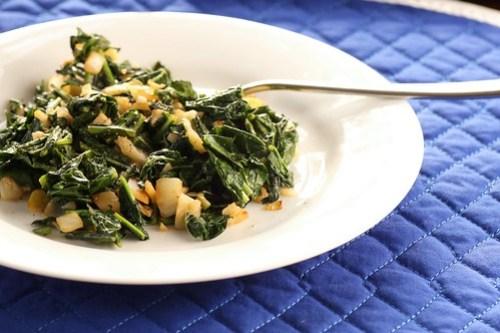 simple sauteed kale