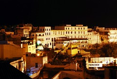 a medina by night