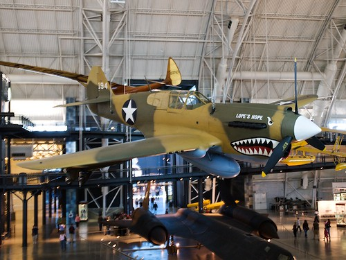 Curtiss P-40E Kittyhawk, above