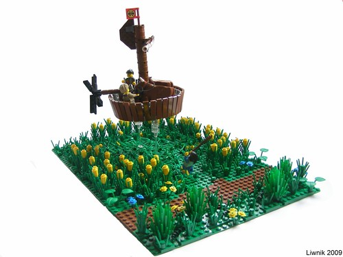 LEGO Liwnik stolen cows in flying tub