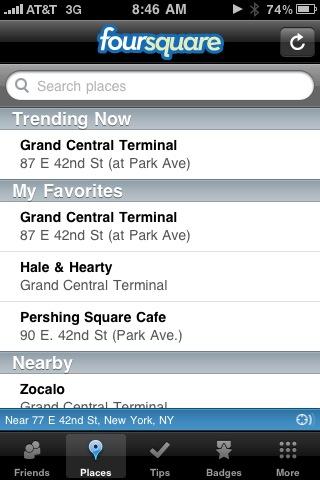@foursquare Trending Now