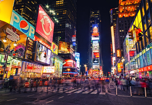 New York, Times Square - Busy Crossing