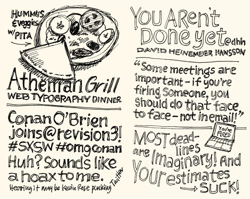 Sketchnotes from Web Typography Dinner