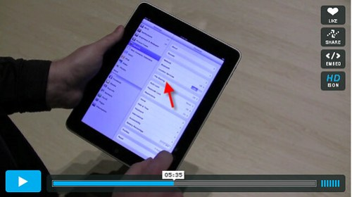 file sharing on the iPad