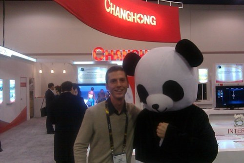 Adam and a panda