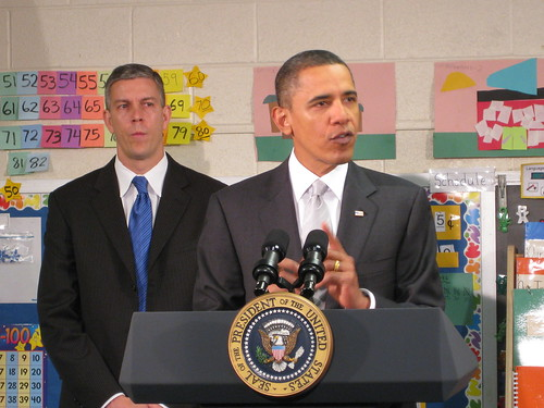 President Obama and Secretary Duncan at Graham Road Elementary School in Falls Church