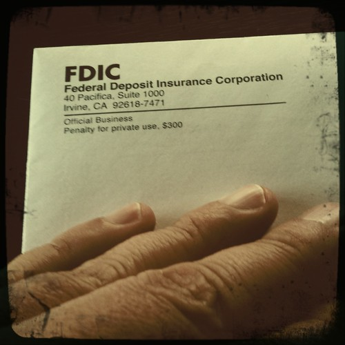 Usually not a good sign to receive a letter from the FDIC