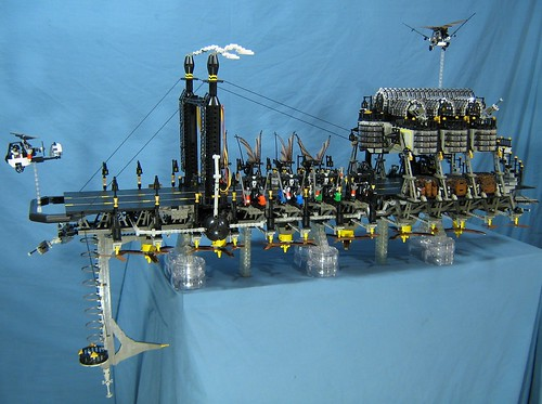 LEGO Steampunk aircraft carrier