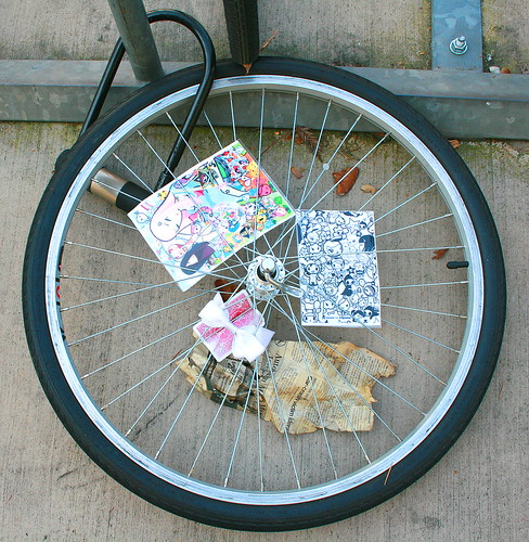 Sad bicycle wheel