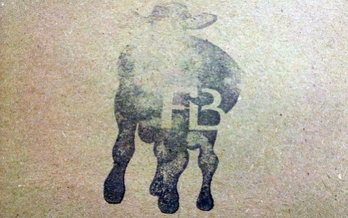 farm burger - menu stamp by foodiebuddha.