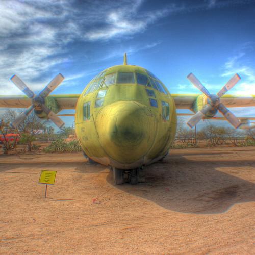 Lockheed 100-A Hercules transport airplane