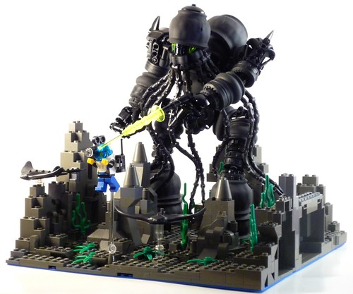 LEGO Cthulhu diorama