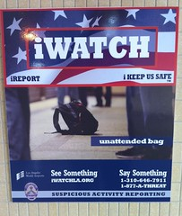 LAPD terror-veillance posters, LAX airport