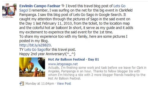 Esvimin Faelnar - LetsGoSago.net 2nd Anniversary Part 1 Winner