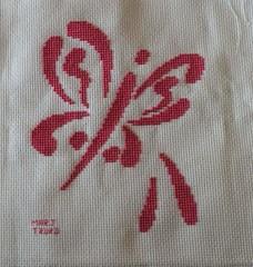 Brushstroke Butterfly7 by BarbH