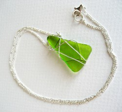 sour apple sterlng silver necklace