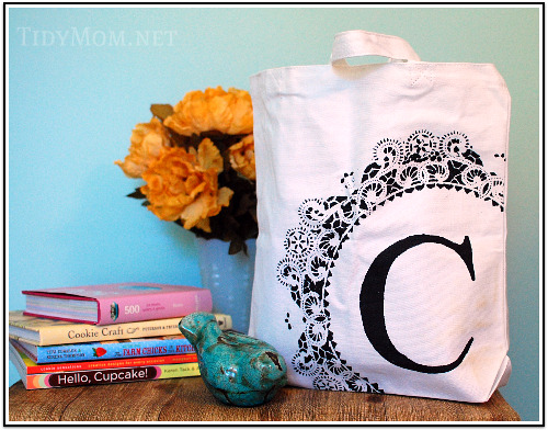 Stenciled Canvas bag