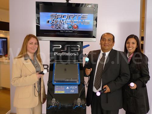 Con los Managers de Sony