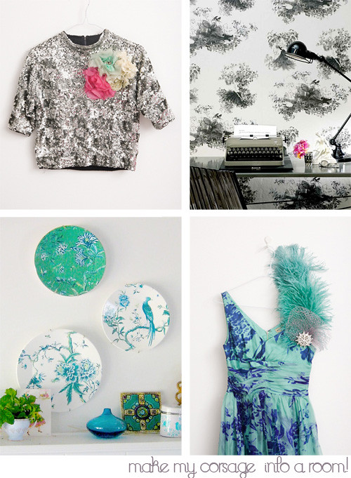 Rooms Inspired By Corsages