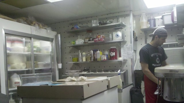 the kitchen at woody's cheesesteaks