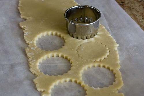 Roll cookies between parchment or wax paper