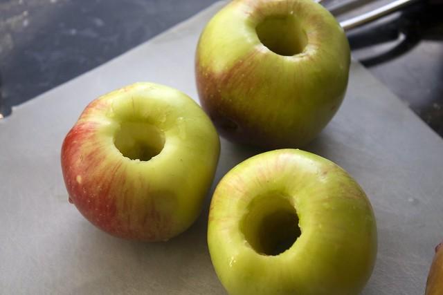 Cored Fuji Apples