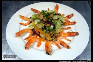 [西餐]沙拉類 蘑菇鮮蝦沙拉佐陳年油醋汁