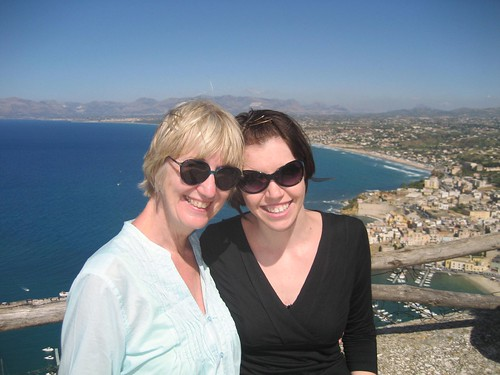 mom and me in sicily