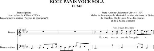 Charpentier - Ecce panis (H. 242)